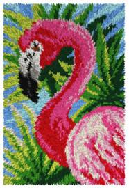 Flamingo Rug Latch Hook Kit by Orchidea