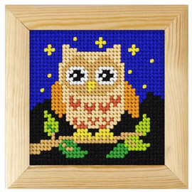 Printed Needlepoint Kit: Owl by Orchidea