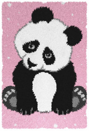 Panda Rug Latch Hook Kit by Orchidea