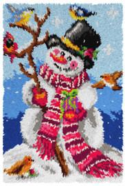 Snowman Rug Latch Hook Kit by Orchidea