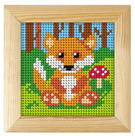 Printed Needlepoint Kit: Fox by Orchidea