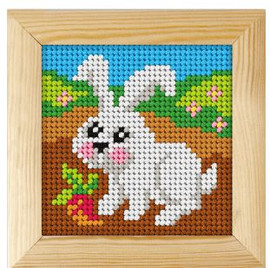 Printed Needlepoint Kit: Rabbit by Orchidea