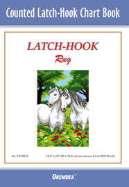 Horses on a Meadow Latch Hook Chart by Orchidea