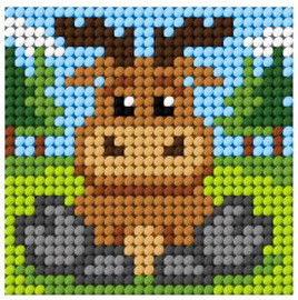 Needlepoint Kit: My First Embroidery: Mini: Reindeer by Orchidea