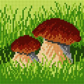 Printed Boletes Needlepoint Embroidery Kit by Orchidea