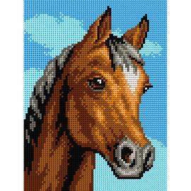 Printed Horses Head Needlepoint kit by Orchidea