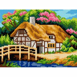 Landscape with Bridge Needlepoint Kit by Orchidea
