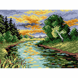 Printed River Needlepoint Kit by Orchidea