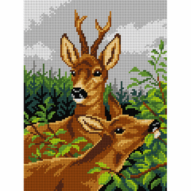 Printed Deer Family Needlepoint Kit by Orchidea