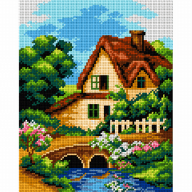 Printed Landscape with Creek Needlepoint Kit by Orchidea