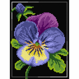 Printed Pansy Needlepoint Kit by Orchidea