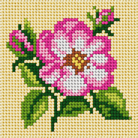 My First Embroidery Mini Wild Rose Kit by Orchidea