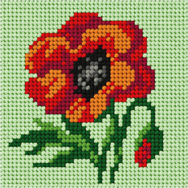 My First Embroidery Mini Poppy Kit By Orchidea