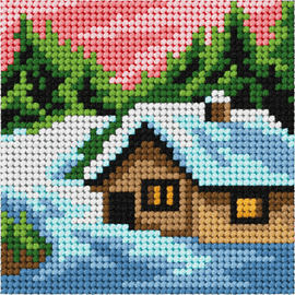 My First Embroidery Mini Winter Landscape Kit Orchidea