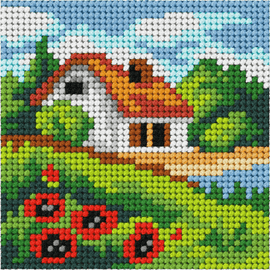 My First Embroidery Mini Summer Landscape Kit by Orchidea