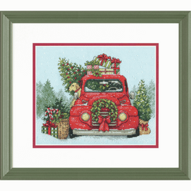 Festive Ride Counted Cross Stitch Kit by Dimensions