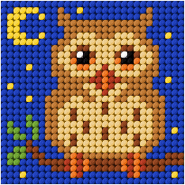 My First Embroidery Needlepoint Mini Owl Kit By Orchidea