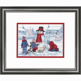 Building a Snowman Counted Cross Stitch Kit by Dimensions