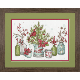 Birds and Berries Counted Cross Stitch Kit by Dimensions