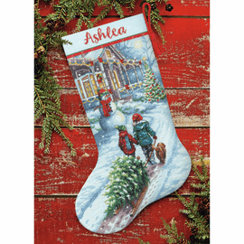 Christmas Tradition Stocking Counted Cross Stitch Kit by Dimensions