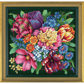 Floral Splendor Needlepoint Kit by Dimensions