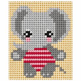 Needlepoint Kit My First Embroidery Elephant