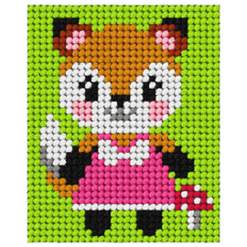 Needlepoint Kit: My First Embroidery Fox