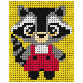 My First Embroidery Kit Racoon By Orchidea