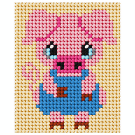 Pig My First Embroidery Needle Point Kit By Orchidea