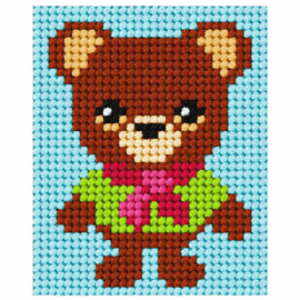 Bear My First Embroidery Needle Point Kit By Orchidea
