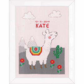 Lovely Llama Counted Cross Stitch Kit By Vervaco