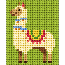 Llama My First Embroidery Needle Point Kit By Orchidea