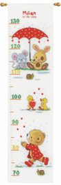 Under the Umbrella Height Chart Counted Cross Stitch Kit By Vervaco