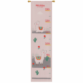 Lovely Llama Height Chart Counted Cross Stitch Kit By Vervaco