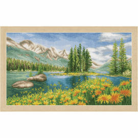 Mountain Landscape Counted Cross Stitch Kit By Vervaco