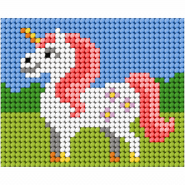 My First Embroidery Needlepoint Kit Unicorn by Orchidea