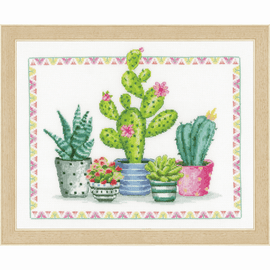 A Plant Corner Counted Cross Stitch Kit by Vervaco