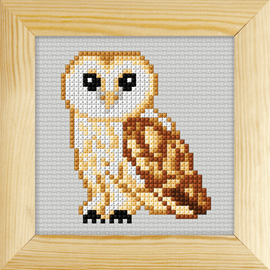 Counted Cross Stitch Kit with Frame Owl by Orchidea (11cm)