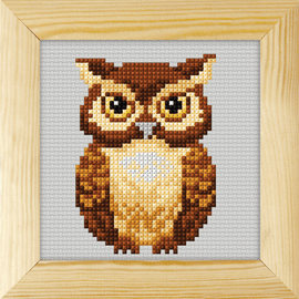 Counted Cross Stitch Kit with Frame Owl by Orchidea (13cm)