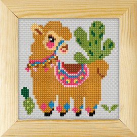 Counted Cross Stitch Kit with Frame Llama by Orchidea (13cm)
