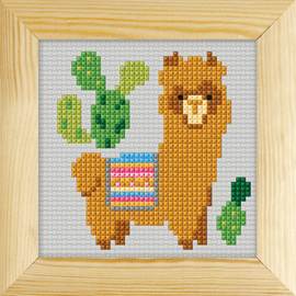 Counted Cross Stitch Kit with Frame Llama by Orchidea (11cm)