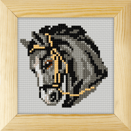Counted Cross Stitch Kit with Frame Horse by Orchidea (13cm)
