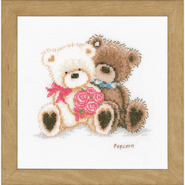 Popcorn and Coconut Counted Cross Stitch Kit by Vervaco