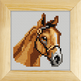 Counted Cross Stitch Kit with Frame Horse by Orchidea (11cm)