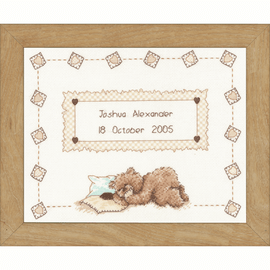 Popcorn Sleeps Counted Cross Stitch Kit by Vervaco