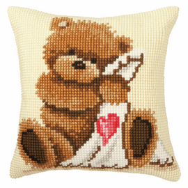 Popcorn Good night Cross Stitch Cushion Kit by Vervaco