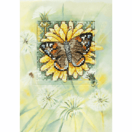 Butterfly and Sunflower Counted Cross Stitch Kit by Orchidea