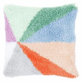 Palm Springs Sunburst Latch Hook & Chain Stitch Cushion Kit by Vervaco