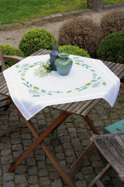 Leaves & Grass Tablecloth Embroidery Kit by Vervaco