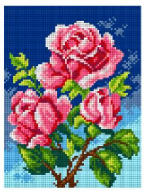 Printed Embroidery Kit: Roses Kit by Orchidea